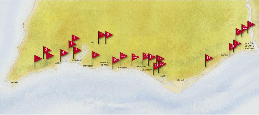 algarve golf map