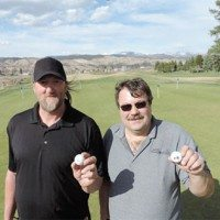 HOLE-IN-ONE AT 130-METRE, PAR 3