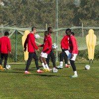 Angolan football team Kabuscorp return to Oceânico Amendoeira for pre-season training